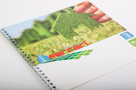 Grafica Brochure Pubblicità Edile Ferrari
