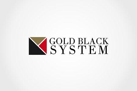 Design Logo Gold Black System