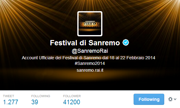 Festival di Sanremo  SanremoRai  su Twitter