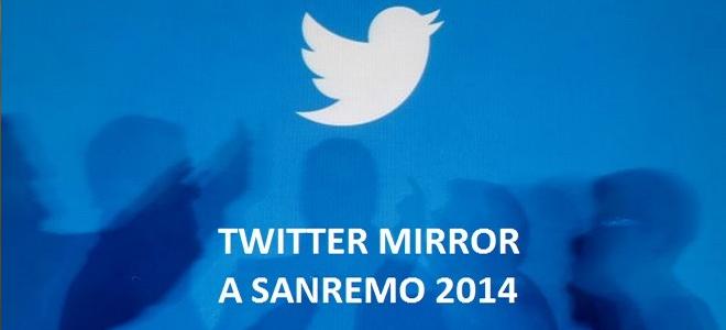 Le Selfie a Sanremo  arriva Twitter Mirror    Sanremo 2014 Blog