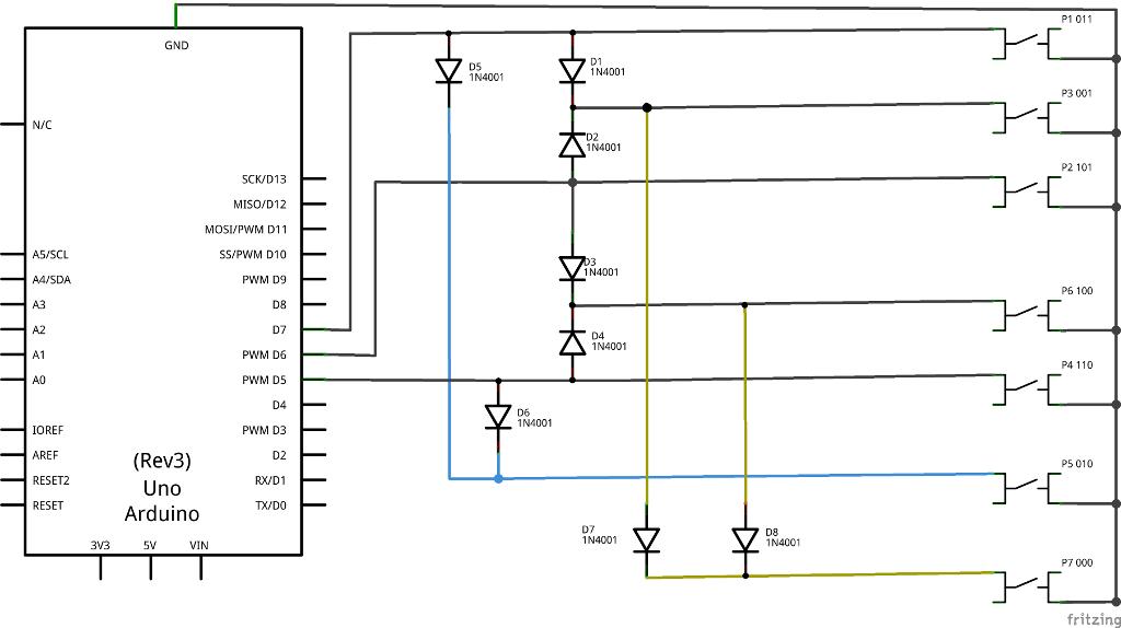 Schema 8 pulsanti